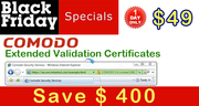 EV SSL Certificate for $49/yr on Black Friday,  Nov. 25 One Day Only