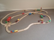 Hand Crafted Wooden Train Set For Sale