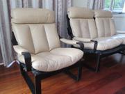 Tessa leather  lounge set