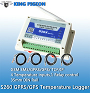 S260 GSM SMS GPRS GPS Temperature logger